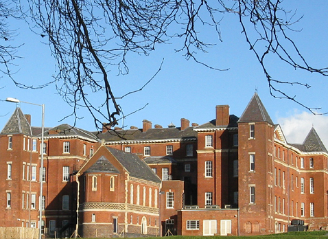 Worcester Royal Infirmary with Jenny Lind Chapel