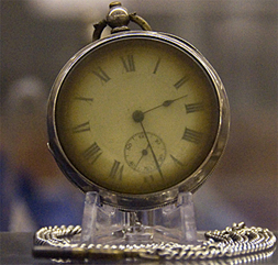 A retrieved fob watch from someone on Titanic