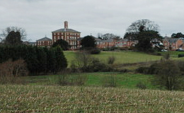 Powick Hospital in the distance. By P Halling.
