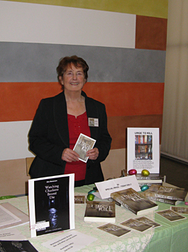 J J Frankin, author of Urge to Kill, at the Birmingham Independent Book Fair, Ikon Gallery