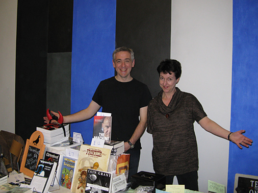 Pigeon Park Press at the Birmingham Independent Book Fair, at the Ikon Gallery