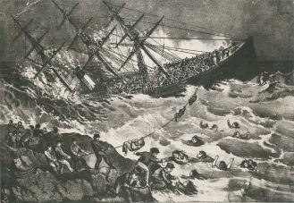 SS Atlantic disaster (Currier and Ives Lithographs)