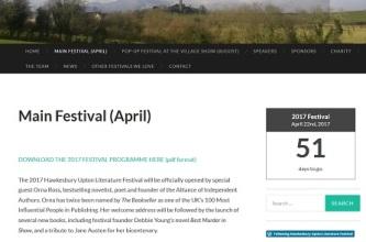 Hawkesbury Upton LitFest web page