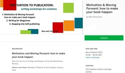 Eventbrite banner for York Making your Book Happen event