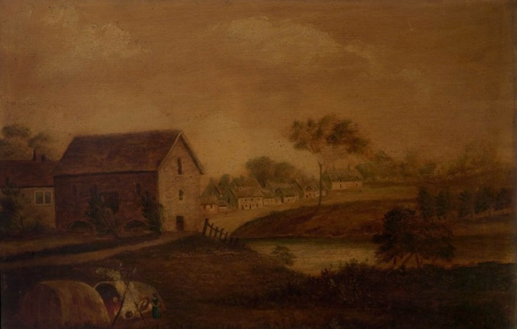 An oil painting depicting 'Drunken Bidford' dated early to mid 19th century